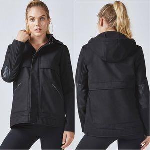 NWT Fabletics Pella Coat utility jacket black